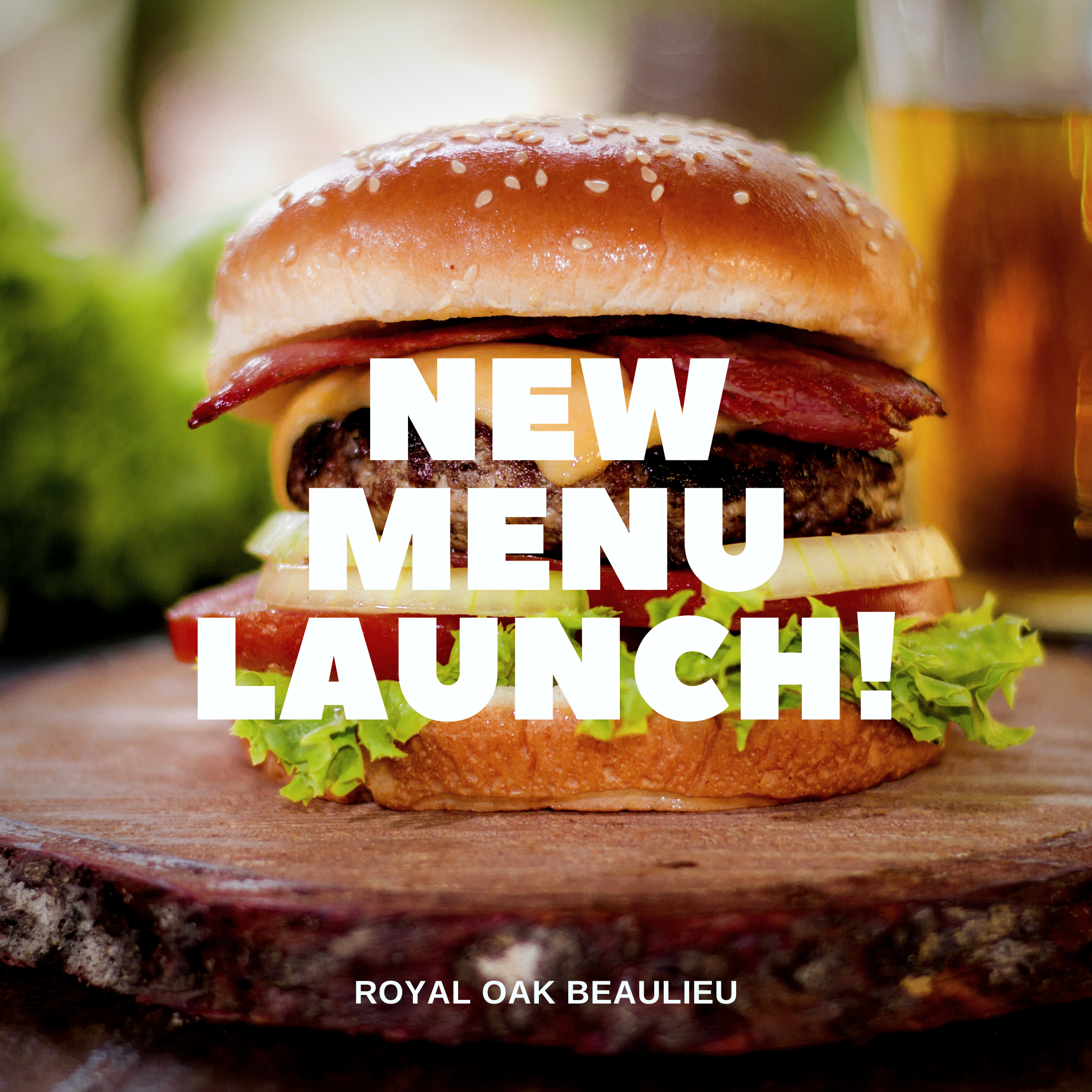 New Menu Coming Soon The Royal Oak Beaulieu